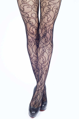 Back Seam w/ Bow Fishnet Stockings