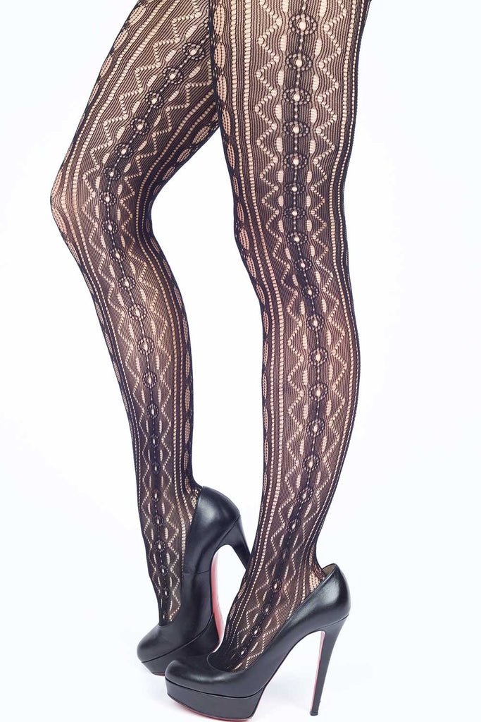 Hidden Jewels Fishnet Stockings