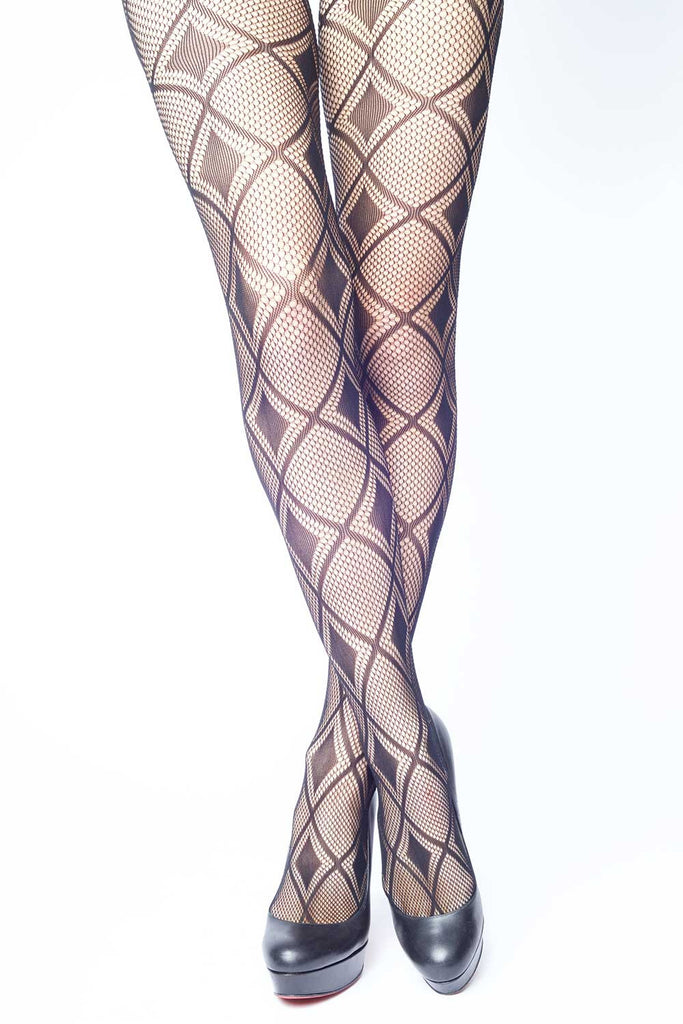 Diamonds on Diamonds Fishnet Stockings