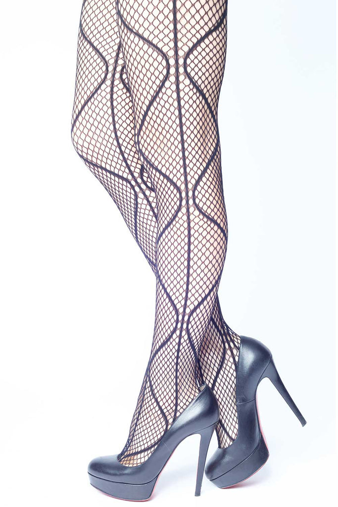 Magnetic Waves Fishnet Stockings