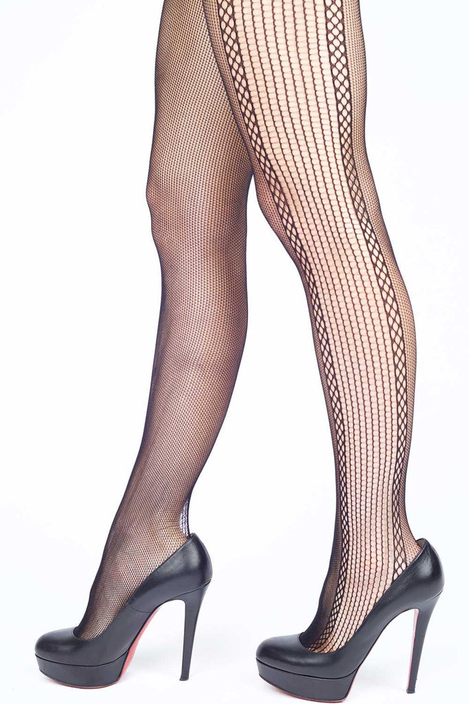 3be7c4bb91f Contrasting Sides Fishnet Stockings