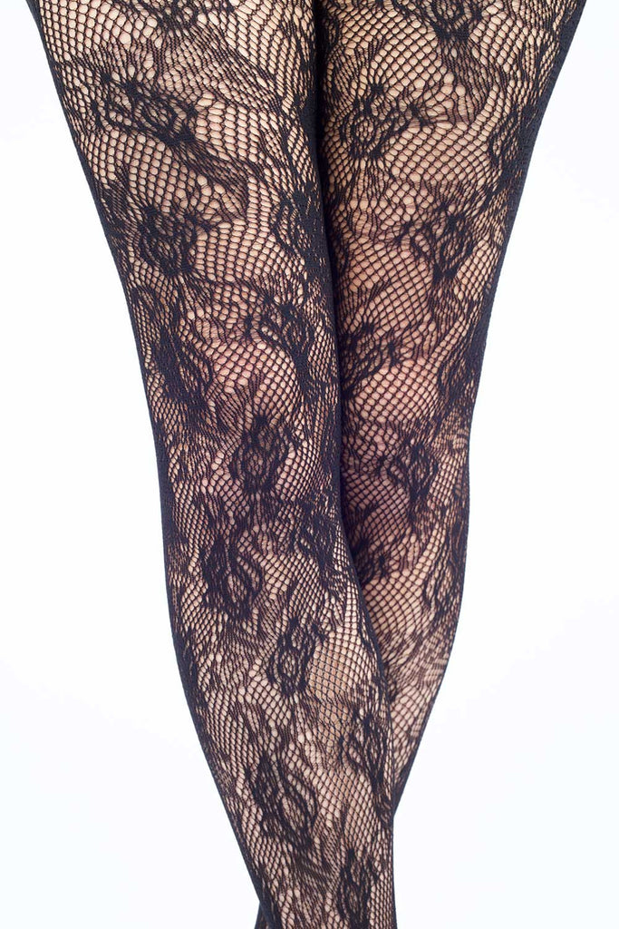 Roses In Full Bloom Fishnet Stockings