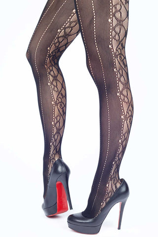Garter Cut-outs Fishnet Stockings