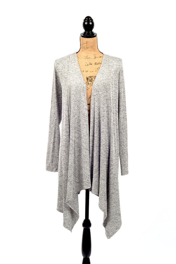 Long Heather Grey Cardigan