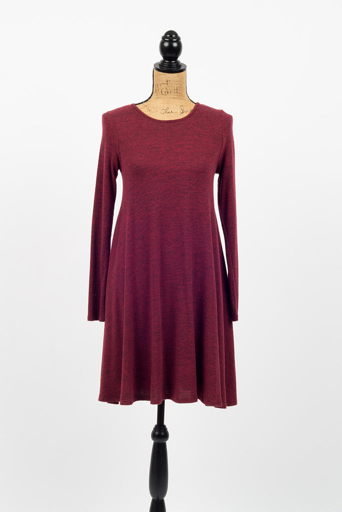 Winter's Edge Red Long Sleeve Dress