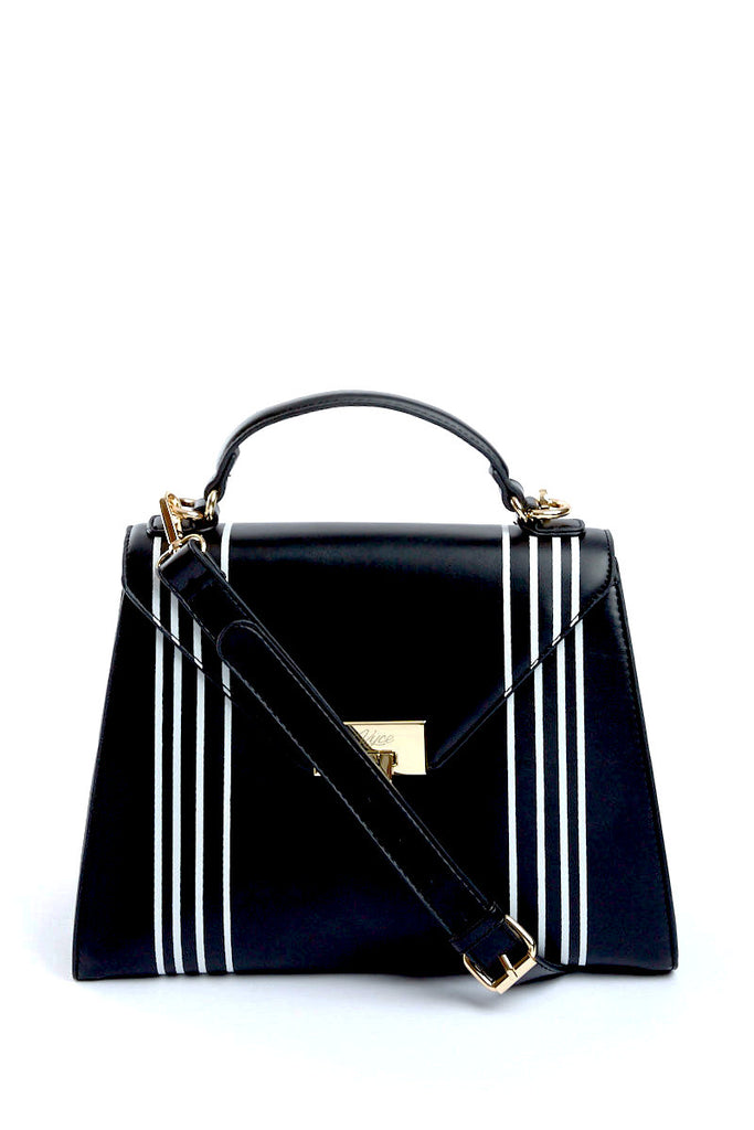 The Faye Striped Handbag