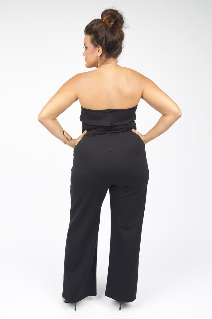 Camryn Plus Size Black Jumpsuit