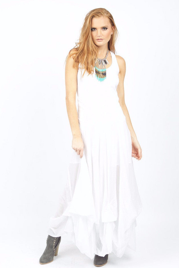 Penelope White Maxi Dress