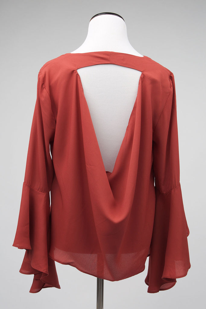 Dakota Flared Sleeves Blouse