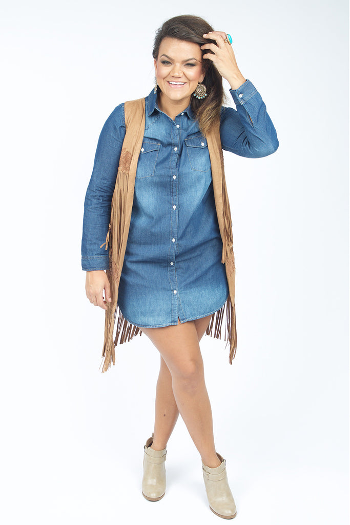 plus size denim dress