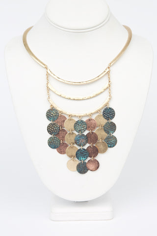 Gold Circle Collar Necklace