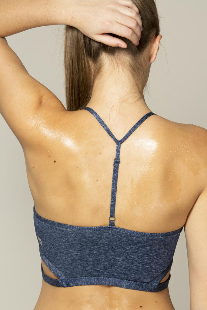 Cutout Racerback Sports Bra