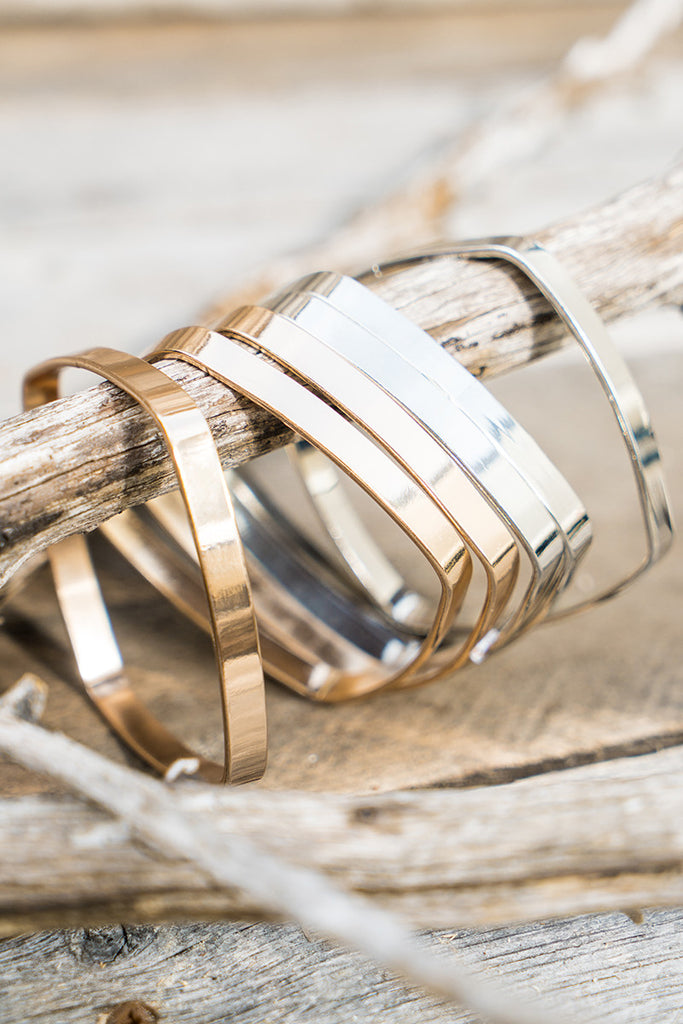 Square Metallic Bangles