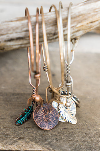 Arrow and Feather Charm Necklace