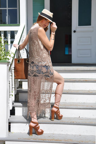 Bethany Mint Lace Dress