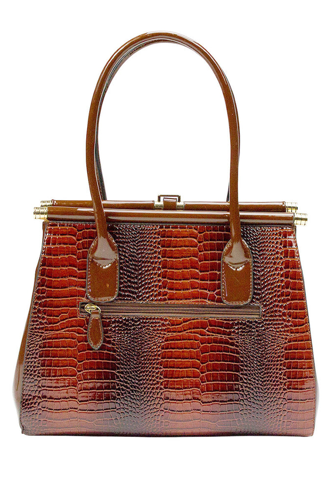 The MaKayla Crocodile Skin Handbag