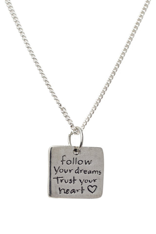 Love Life, Be Brave - Pendant Necklace