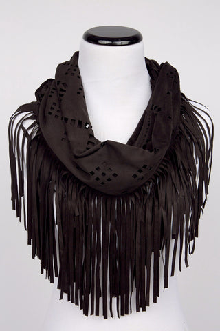 Brown Fringe Scarf