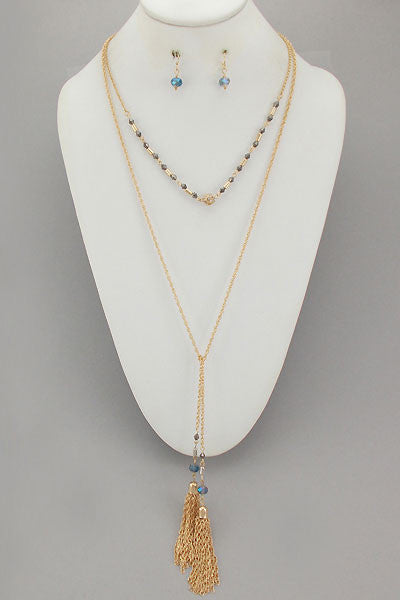 Mixed Metal Dazzle Necklace Set
