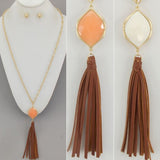 Peach Stone Necklace