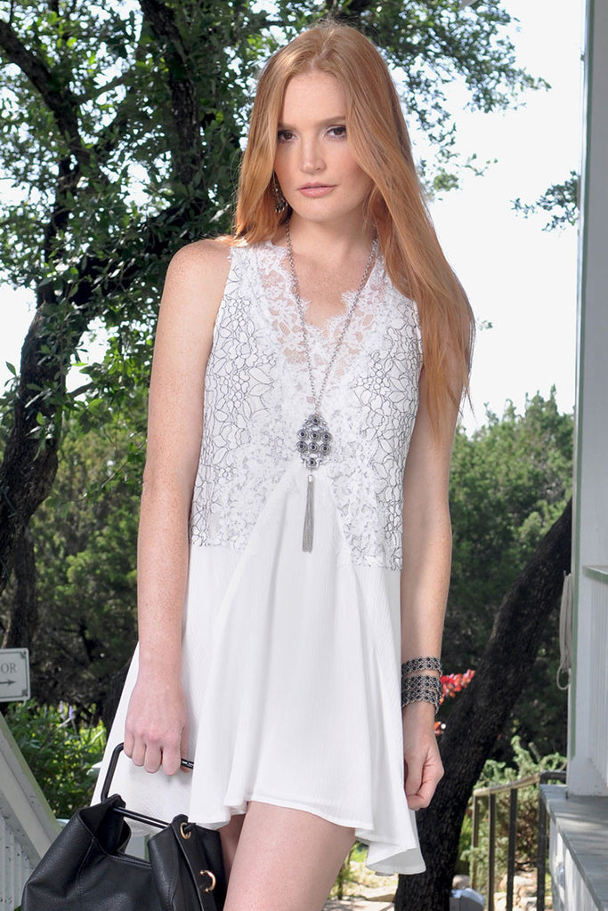 Olivia White Lace Dress