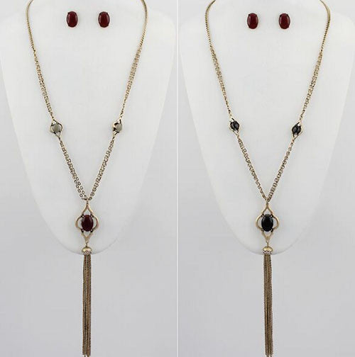 Reversible Stone Necklace