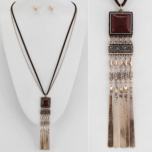 Square Tassel Necklace
