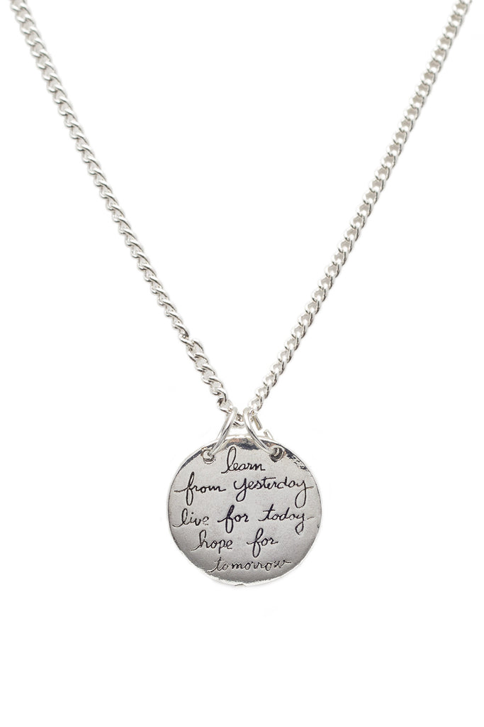 Live the Life You Love - 2 sided Pendant Necklace