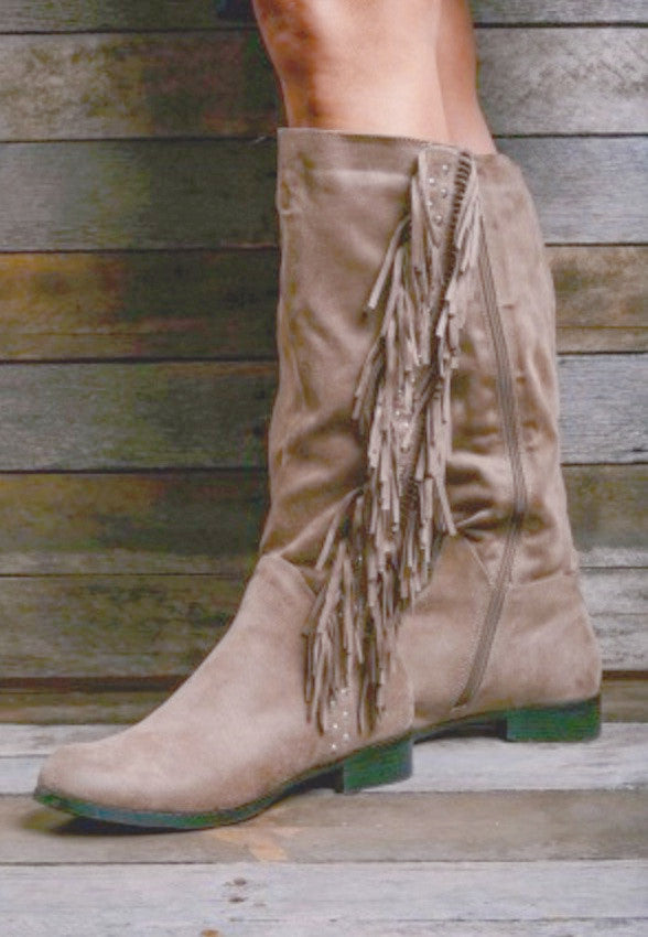Moore Fringe Knee High Boots