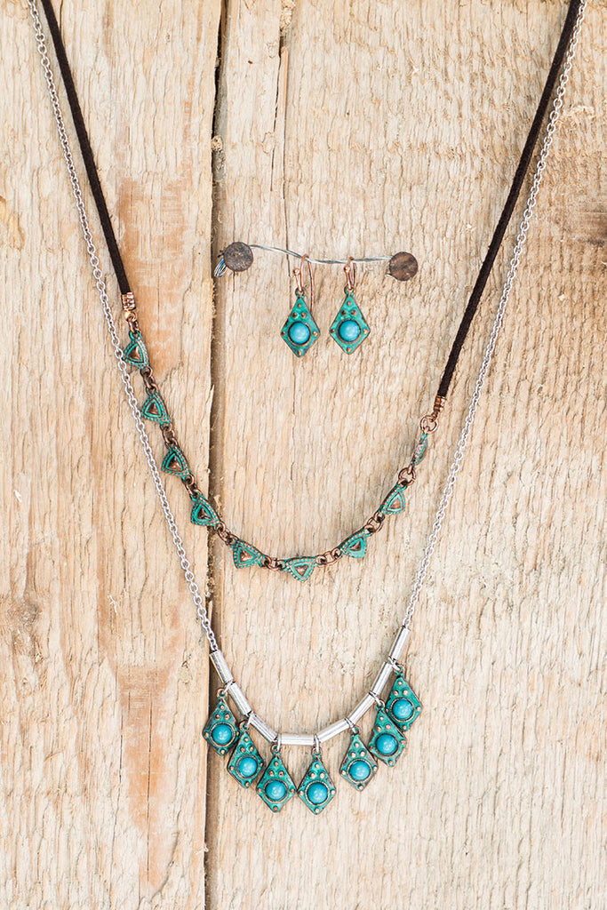 Rustic Glam Layered Necklace