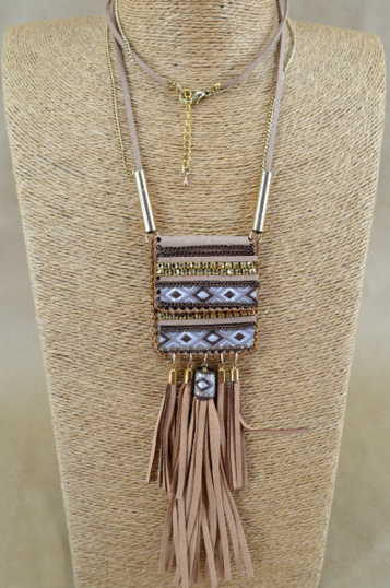Meghan Layered Tassel Necklace