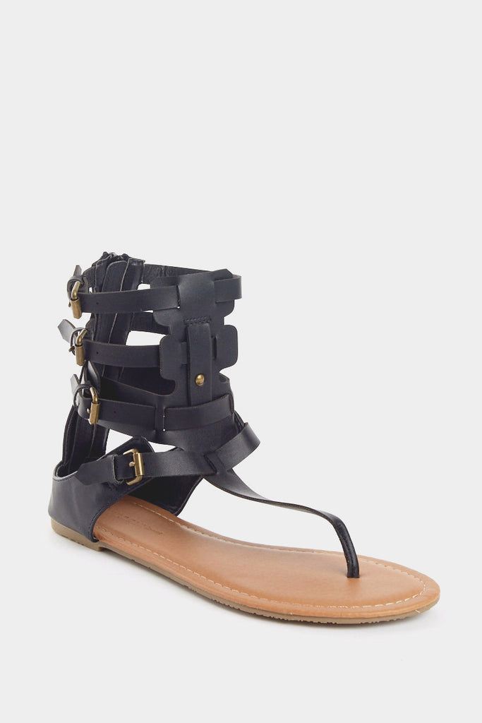 Jezebel Black Gladiator Sandal