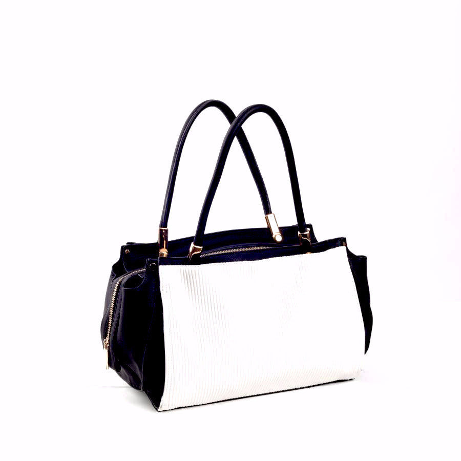 The Emma Black and White Handbag