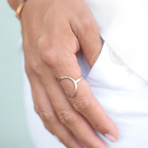 "Open Circle ""Halo"" Ring"