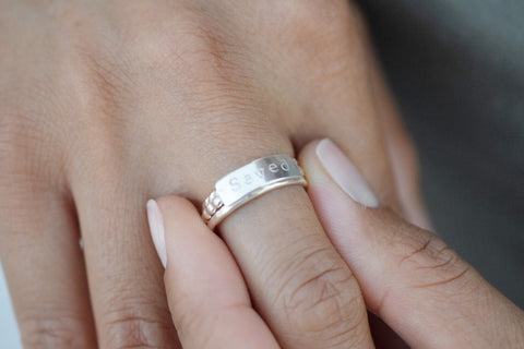 Customized Silver Stacking Ring