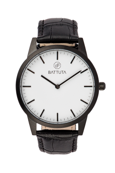 Black Case with White Dial - Battuta Watches