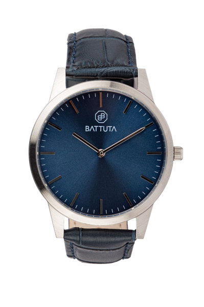 Silver Case with Blue Dial - Battuta Watches