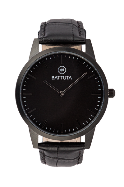 Black Case with Black Dial - Battuta Watches