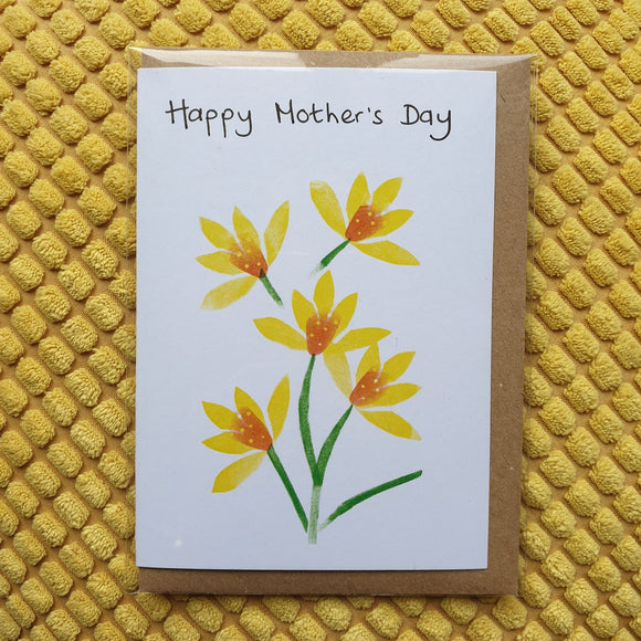 'Happy Mother's Day' Bunch of Daffodils Card