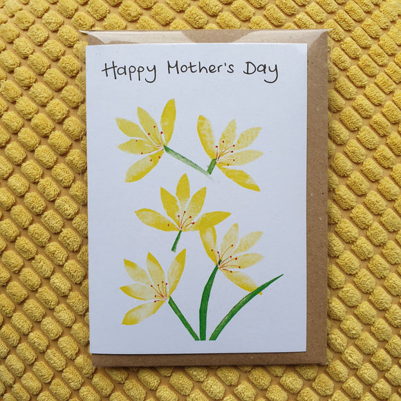 'Happy Mother's Day' Yellow Crocus Card