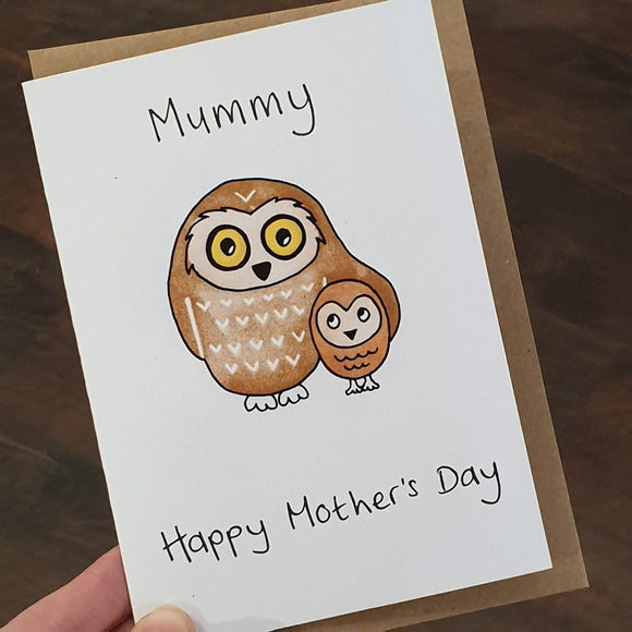 'Mummy - Happy Mother's Day' Owls Card