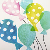 Birthday balloons card - 'Party Time'