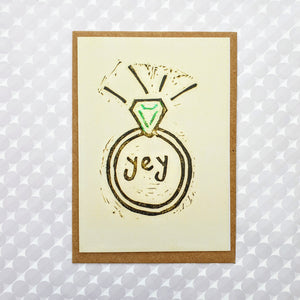 'Yey' Engagememt Ring Card