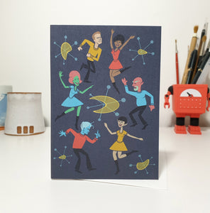 'Space Party' Greeting Card