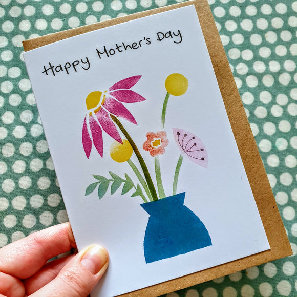 'Happy Mother's Day' Vase of Flowers Card