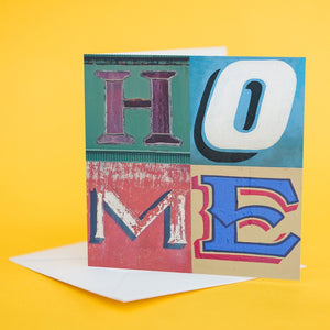 "Typography Card ""Home"""