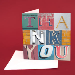 "Typography Card ""Thank-you"""