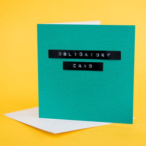 "Label Card ""Obligatory Card"" Turquoise"
