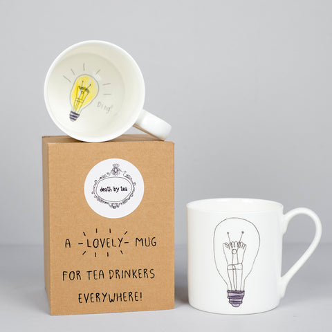 'My Thinking Cup' Bone China Lightbulb Mug