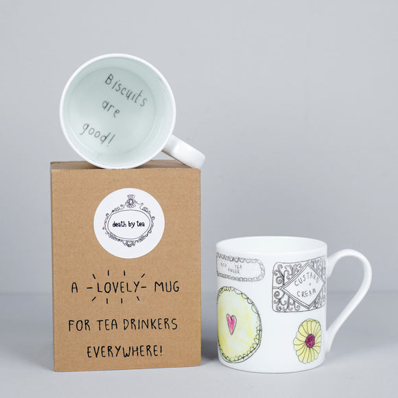 'Biscuits are Good' Bone China Biscuits Mug